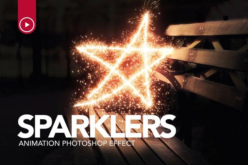 Sparklers Animation Photoshop Action