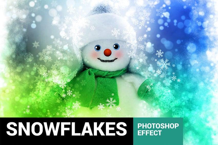 Celebratum 2 - Christmas Snowflakes Photoshop Action