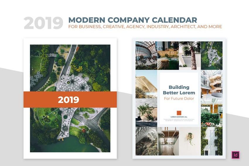 2019 Minimal Calendar For Company Agency Busines Creating a calendar