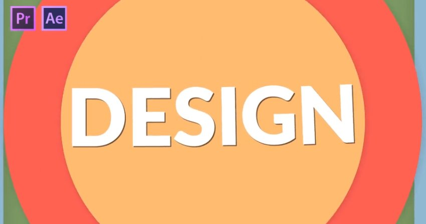 Flat Design Transitions Pack  Mogrt