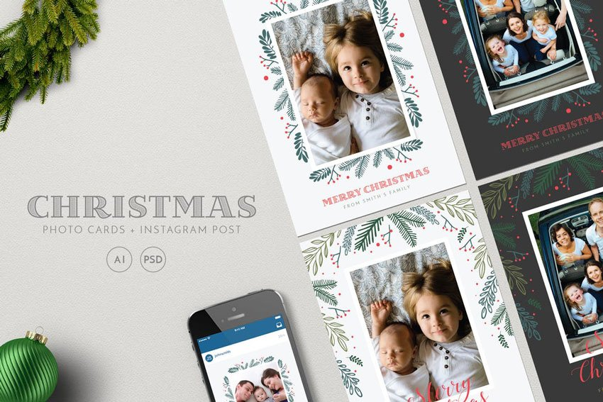 Christmas Photo Cards Instagram Post