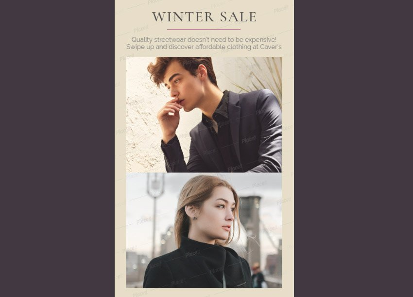 Insta Story Maker for a Winter Sale