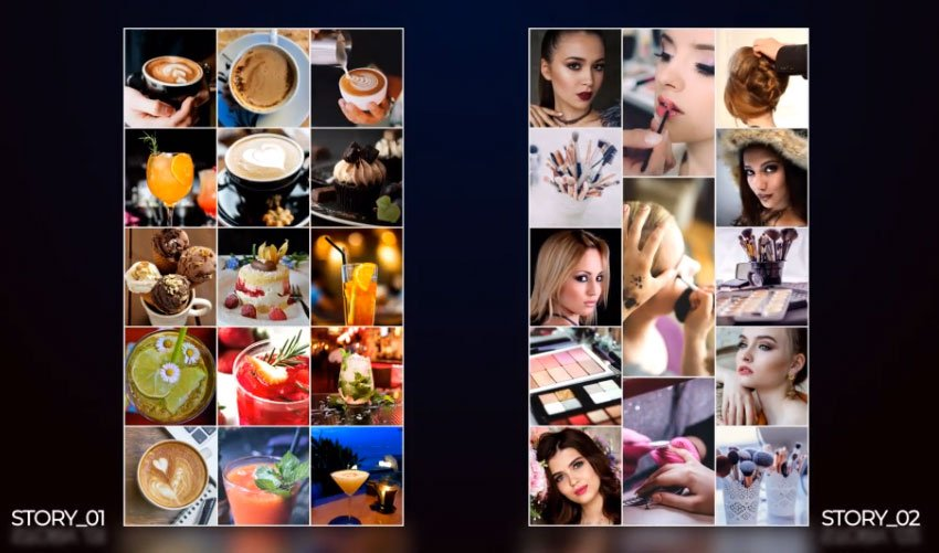 Instagram Stories with Multi Image Grid