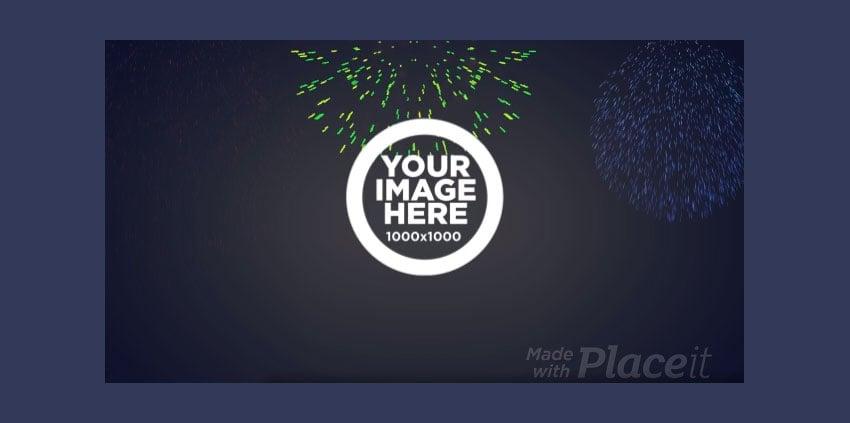 Celebration YouTube Intro Maker with Firework Animations