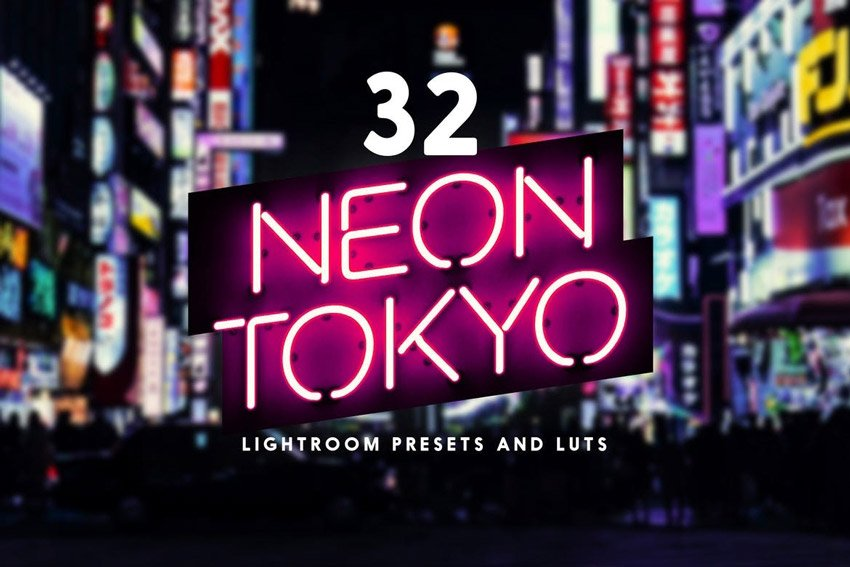 Neon Tokyo - 32 Lightroom Presets and LUTs
