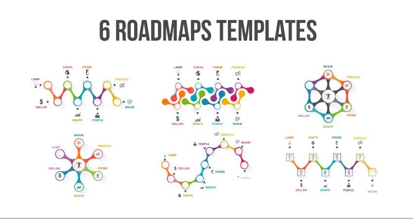 6 Roadmaps Templates - MOGRT