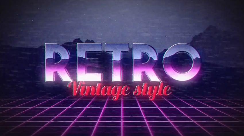Retro Title