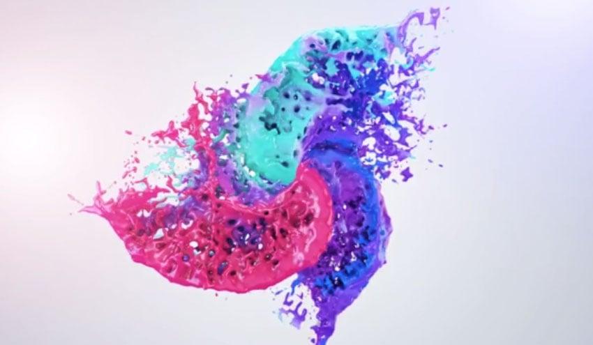 Colors Of Liquid Logo Reveal