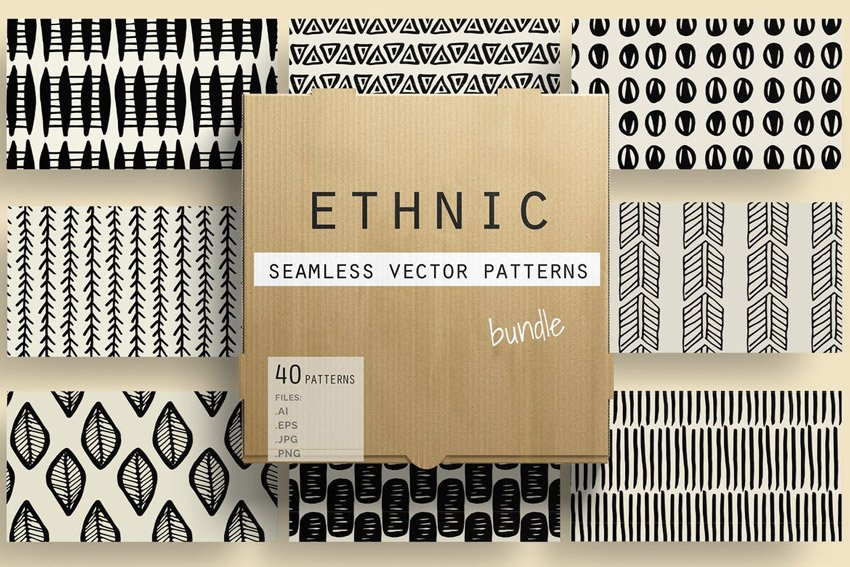 Ethnic Seamless Vector Patterns