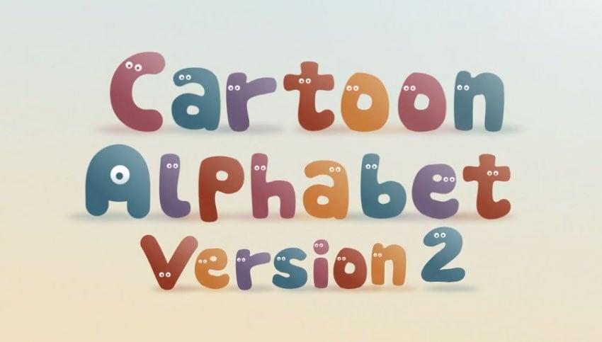 Cartoon Alphabet II After Effects Template