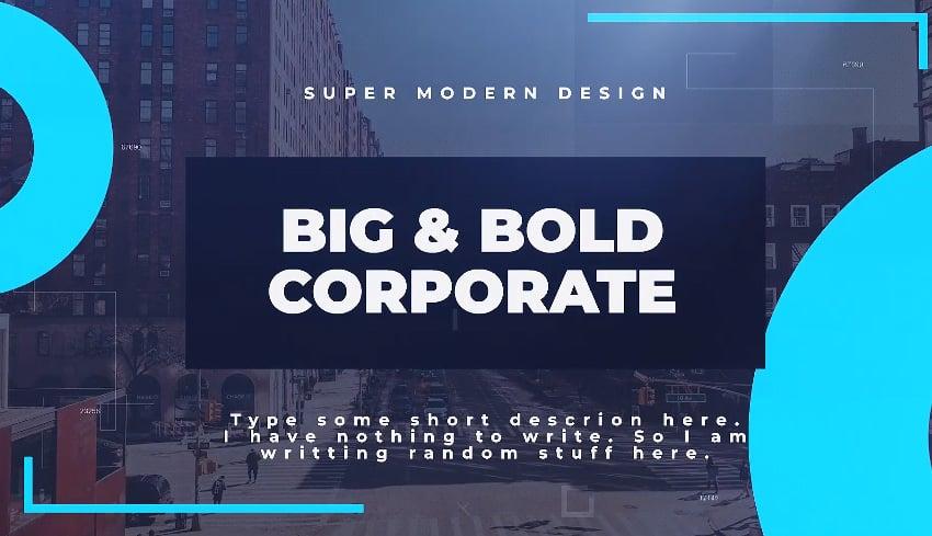 Big  Bold Corporate