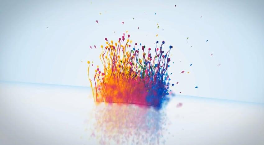 Particles Splash Logo Reveal