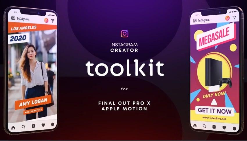 Instagram Creator Tool Kit FCPX