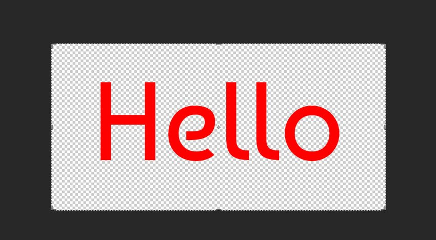 sample text created in Photoshop
