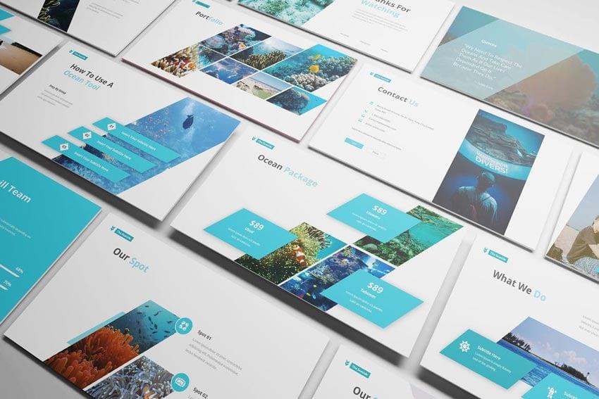 Ocean Conservation Powerpoint Template