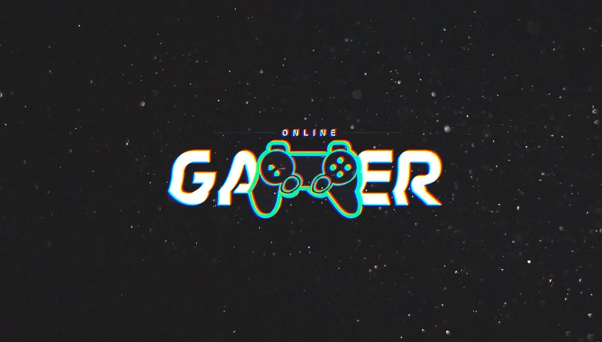 Gamer Glitch Logo Reveal  After Effects