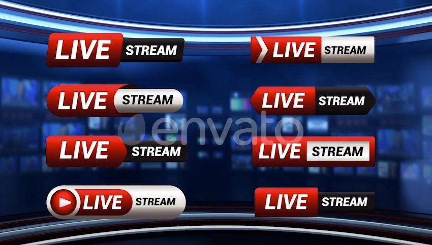 Live Stream Pack  Motion Graphic
