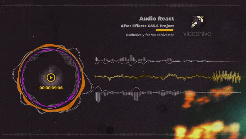 Audio React After Effect Audio Visualizer