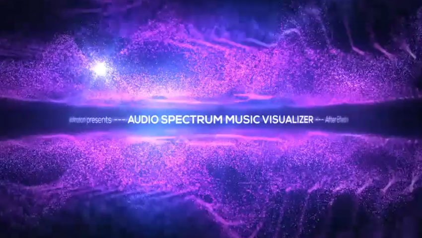 Audio Spectrum After Effects Music Visualizer