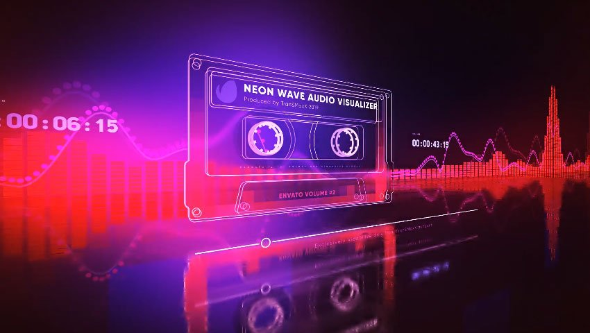 Neon Wave After Effects Audio Visualizer