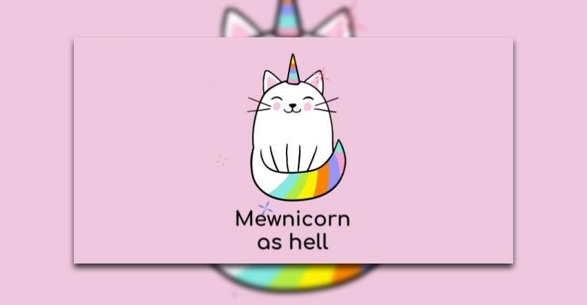 Animated Unicorn Kitty Mewnicorn