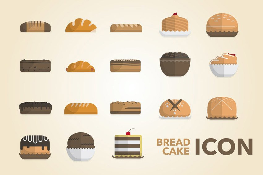 Bread Cake Icon Pack