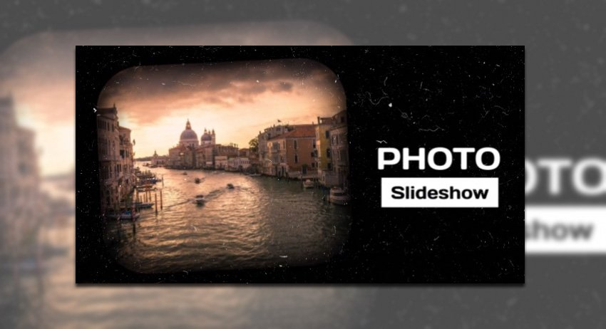 Photo Slideshow Video Maker with Vintage Film Effects