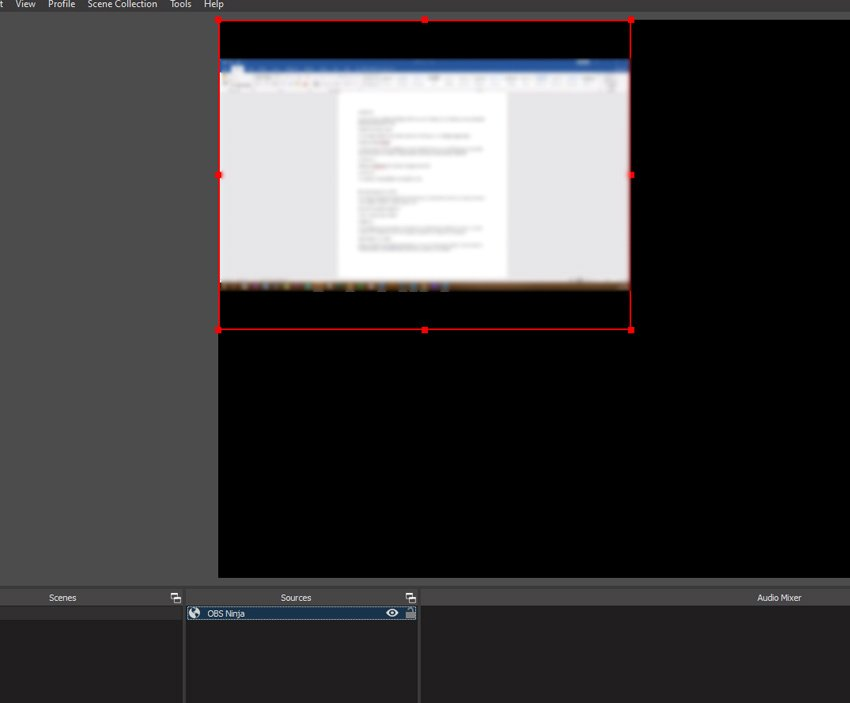 screenshare as source in obs studio