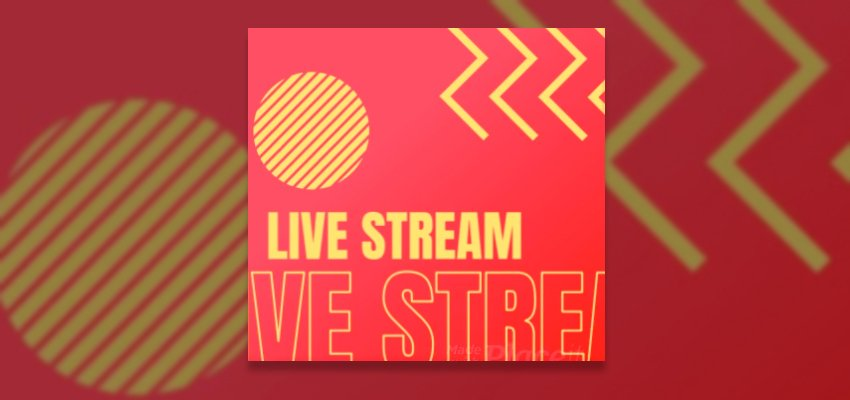 Instagram Video Maker for a Live Music Stream Featuring Animated Geometric Shapes