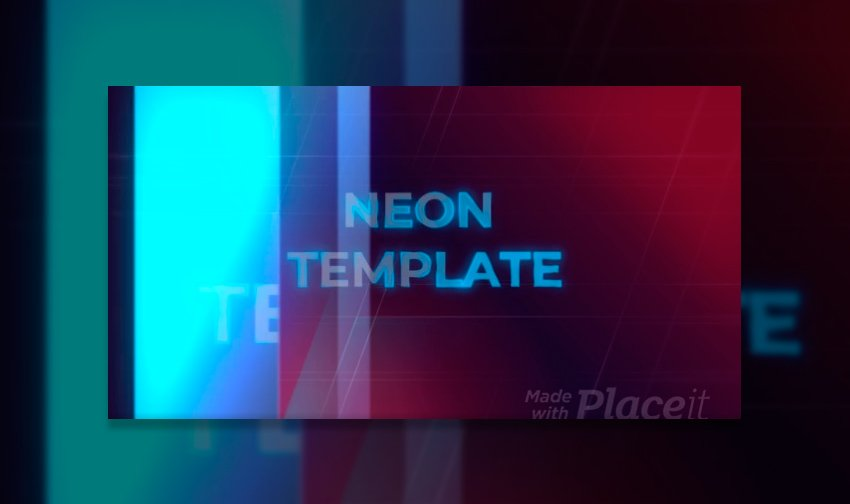 Slideshow Video Maker with Neon-Style Graphics