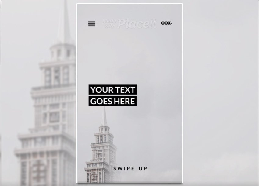 Monochromatic Instagram Story Video Maker Featuring Minimal Text Animations