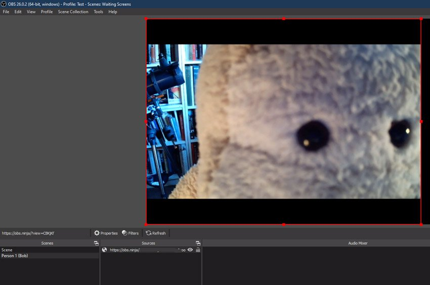 Add each participant to OBS studio as a browser source
