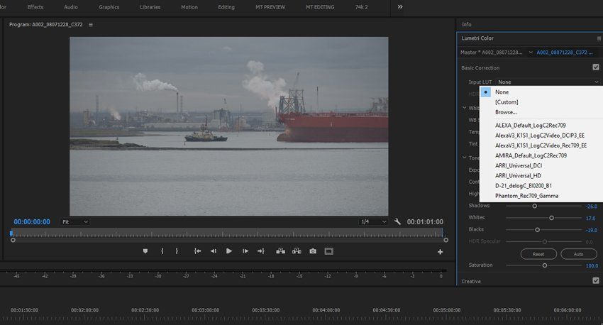 Loading in your LUT