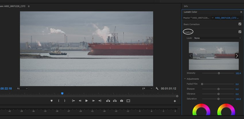 Loading your LUT into Creative