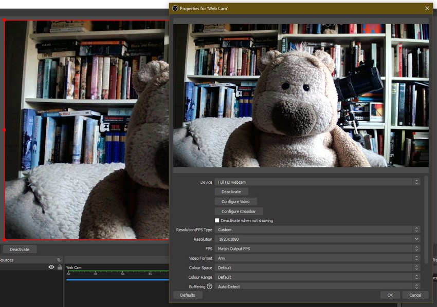 Change camera resolution