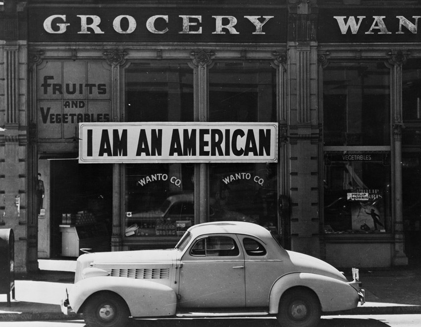 Dorothea Lange - Grocery store in Oakland California, 1942 via Library of Congress