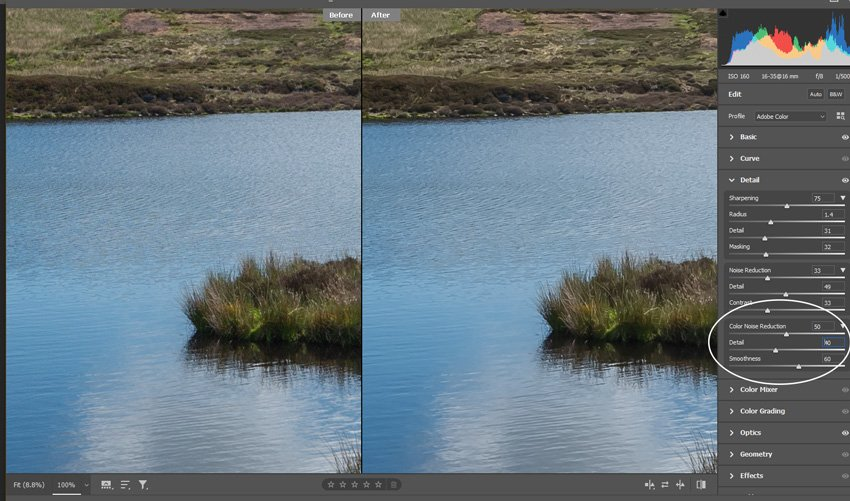 Colour Noise, Detail and Smoothness
