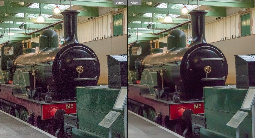 Before and After Adjustment in Adobe Camera RAW