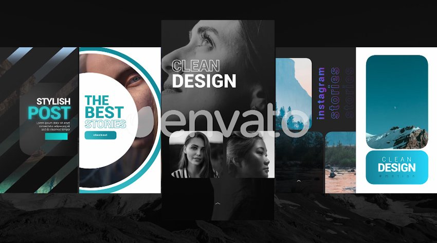 Clean Instagram Stories - from Envato Elements
