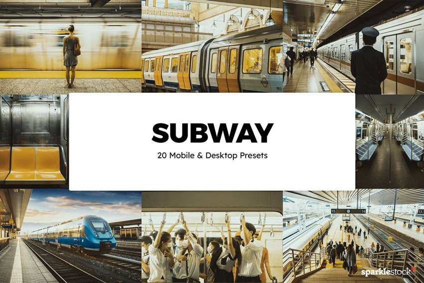 20 Subway Lightroom Presets & LUTs