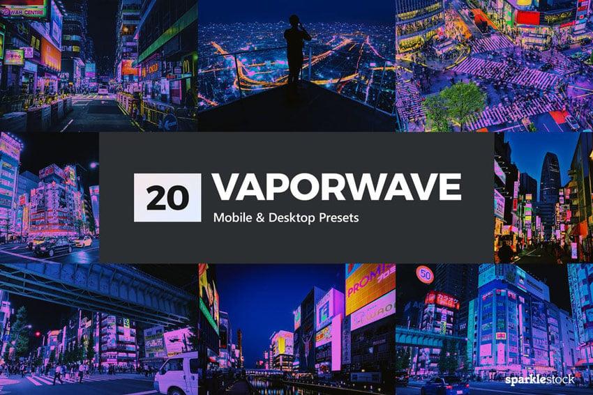 20 Vaporwave Lightroom Presets and LUTs