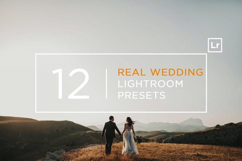 12 Real Wedding Lightroom Presets