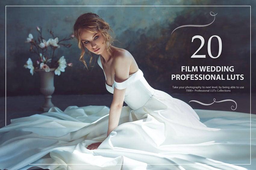 20 Film Wedding LUTs Pack