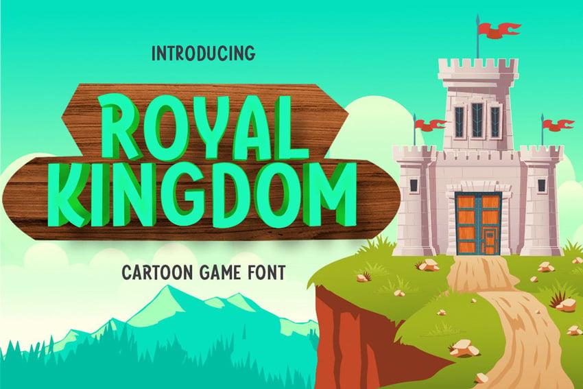 Royal Kingdom - Cartoon Game Font