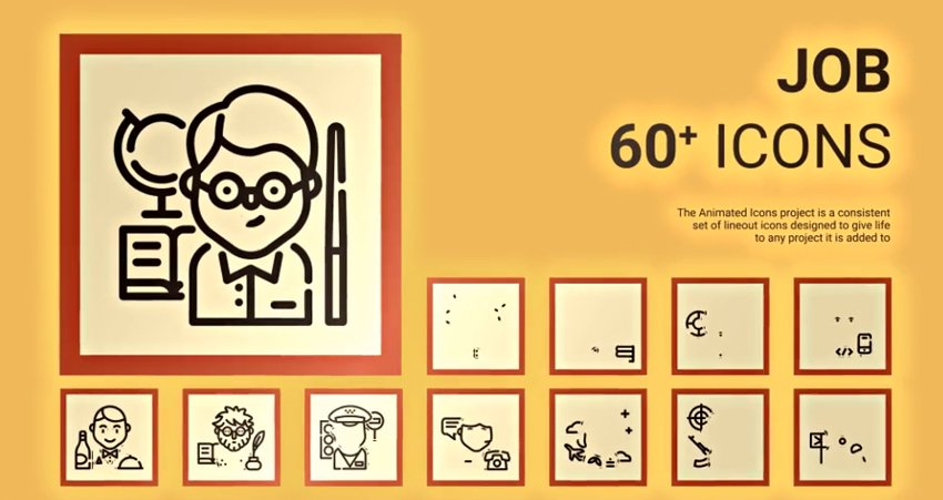 Job & Recruitment - Animated Work Icons