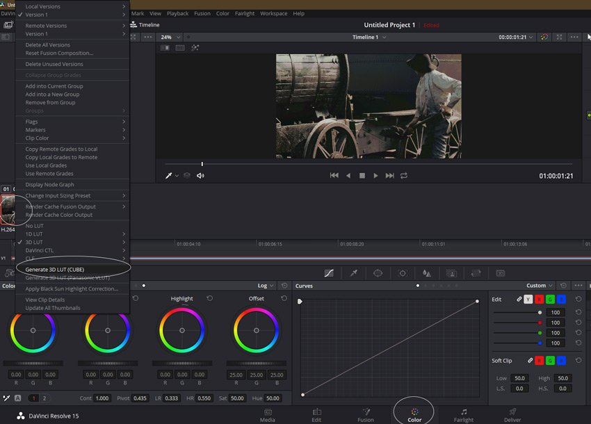 exporting your LUT