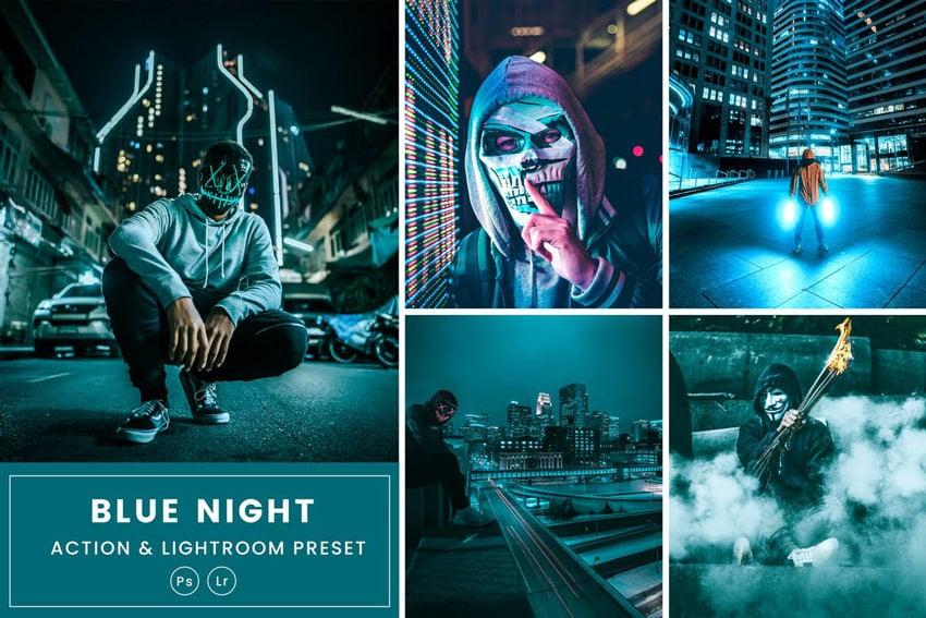 Blue Night Action & Lightrom Presets