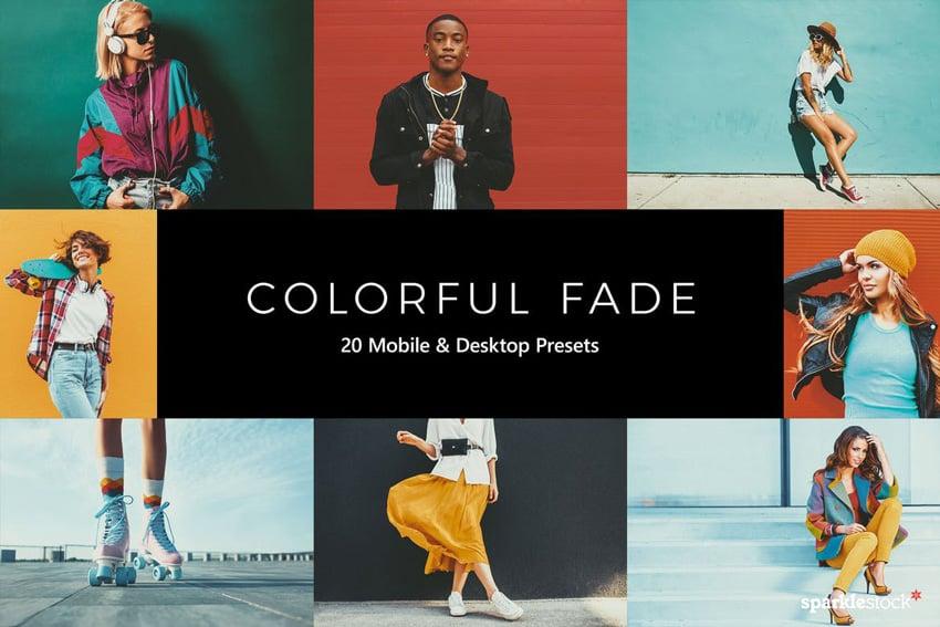 20 Colorful Fade Lightroom Presets & LUTs