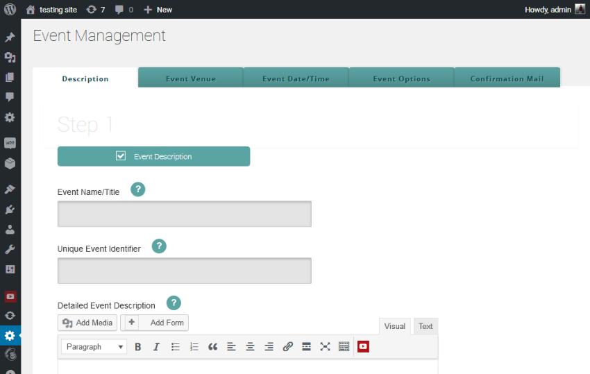 Create an event UI