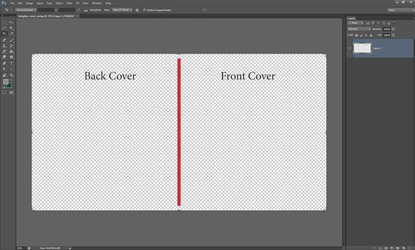 Cover Layout PDF in Photoshop